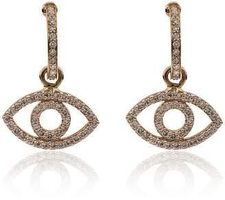 Ileana Makri 18k yellow gold empty eye diamond earrings