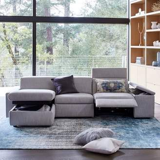 west elm Enzo Reclining 3-Seater Sectional with Storage Chaise