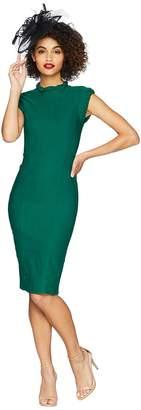 Unique Vintage High Collar Laverne Wiggle Dress Women's Dress