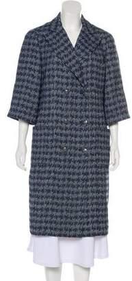 Chanel Tweed Houndstooth Coat