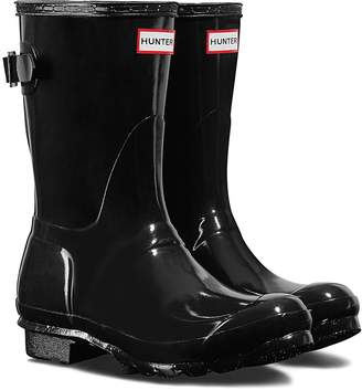 Hunter Short Adjustable Back Gloss Waterproof Rain Boot