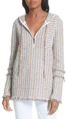 Tory Burch Hollis Baja Hooded Pullover