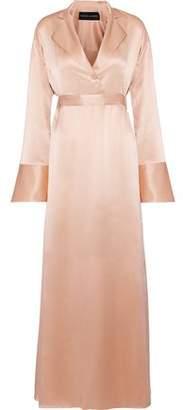 Michael Lo Sordo Silk-satin Maxi Shirt Dress