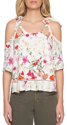 Women's Willow & Clay Cold Shoulder Floral Print Top $79 thestylecure.com