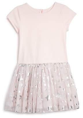 Pippa & Julie Girls' Metallic Bomber Jacket & Star Tutu Dress Set - Little Kid