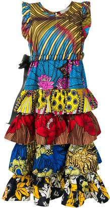 5 PROGRESS printed tiered dress