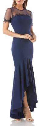 JS Collections Illusion High/Low Gown