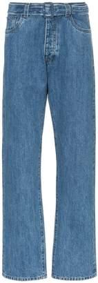 Prada straight leg belted denim jeans