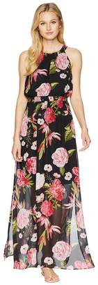 Adrianna Papell Spanish Roses Maxi Dress Women's Dress