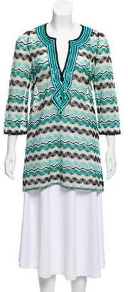 Calypso Sequin Three-Quarter Sleeve Tunic