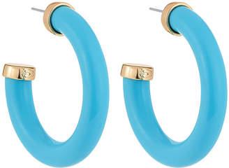 Kenneth Jay Lane Large Hoop Earrings Turquoise