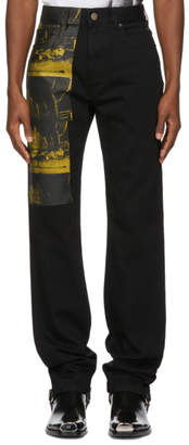 Calvin Klein Black Car Crash Jeans