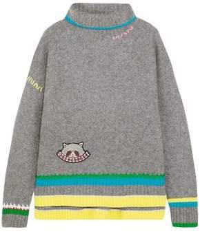 Mira Mikati Appliquéd Cashmere And Wool-Blend Sweater