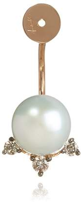 Annoushka Diamond And Pearl Stud Earring Back