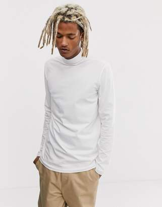 Weekday Ted rib turtleneck in white