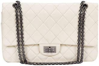 One Kings Lane Vintage Chanel White Distressed Jumbo Bag