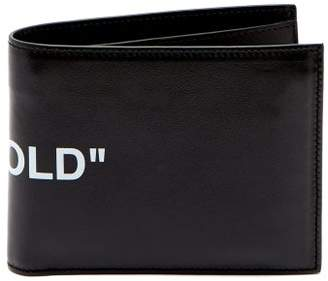 Off-white - Quote Bi Fold Leather Wallet - Mens - Black White