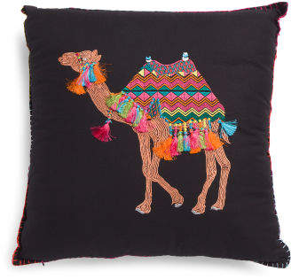 Made In India 20x20 Camel Pillow