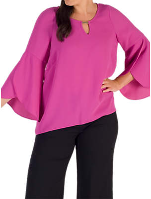 Chesca Cuff Detail Crepe Top