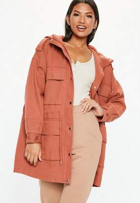 Missguided Rust Oversized Utility Jacket