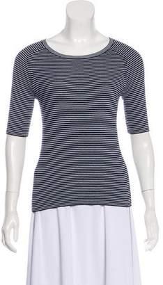 Tory Sport Striped Short Sleeve Top