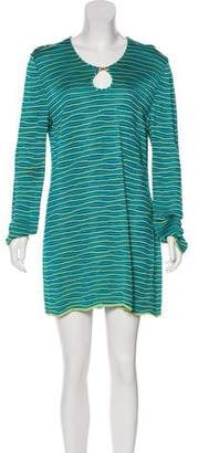 St. John Striped Shift Dress
