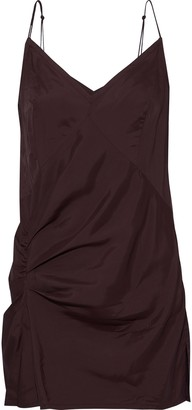Helmut Lang Draped Satin-twill Camisole