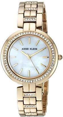 Anne Klein Women's AK/2968MPGB Swarovski Crystal Accented -Tone Bracelet Watch