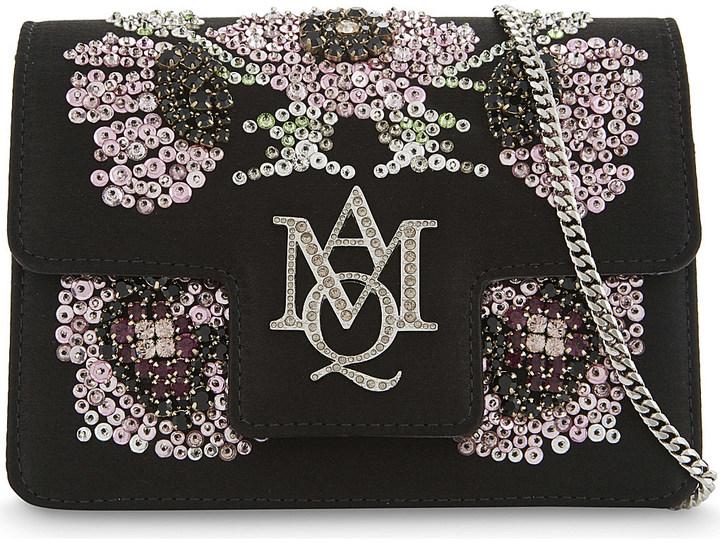 Alexander McQueenAlexander Mcqueen Heroine poppy mini satin satchel