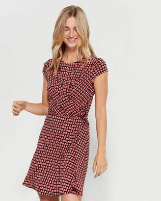 MICHAEL Michael Kors Geo Print Wrap Front Dress