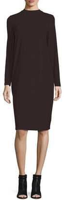 Eileen Fisher Funnel-Neck Jersey Dress $198 thestylecure.com