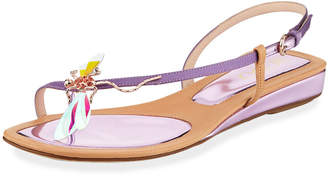 Rodo Dragonfly Ornamented Leather Sandals