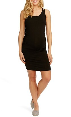 Women's Rosie Pope 'Kimberly' Ruched Side Maternity Tank Dress $98 thestylecure.com