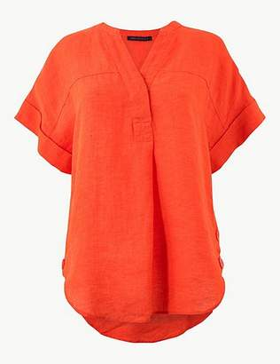 Marks and Spencer Pure Linen Short Sleeve Shirt
