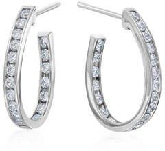 Maria Canale Channel-Set Diamond Hoop Earrings
