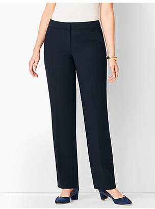 Talbots Seasonless Crepe Straight-Leg Pant - Curvy Fit