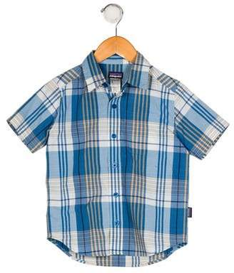 Patagonia Boys' Plaid Button-Up Shirt