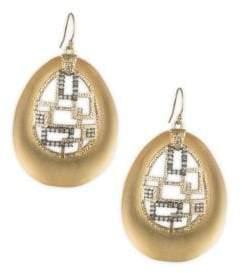 Alexis Bittar Brutalist Butterfly Crystal Drop Earrings