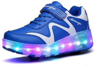 Heelys Ufatansy Uforme Colorful LED Lights Children Light Skate Shoes Fashion Sneakers for Girls Boys