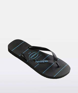 Havaianas Stripes Black Black Blue
