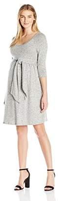 Maternal America Women's Scoop Neck Front Tie Dress, Grey