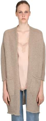 Blend of America Pink Memories Mohair Knit Maxi Cardigan