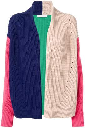 Cruciani colour-block knitted cardigan