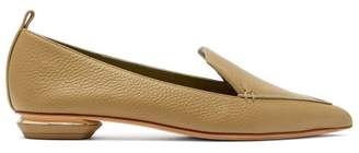 Nicholas Kirkwood - Beya Grained Leather Loafers - Womens - Khaki