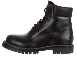 Valentino Star Hologram Combat Boots
