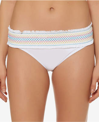 Bleu by Rod Beattie Stitched-Band Bikini Bottoms Women's Swimsuit
