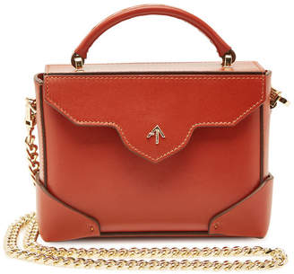 Atelier Manu Micro Bold Leather Shoulder Bag with Chain Strap
