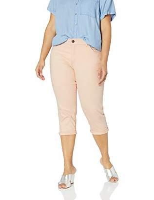 21e8fc1846b Lee Women s Plus Size Flex Motion Regular Fit 5 Pocket Capri Jean