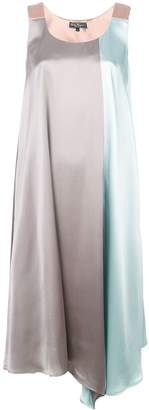 Salvatore Ferragamo two-tone midi dress