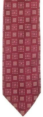 Charvet Silk Floral Print Tie